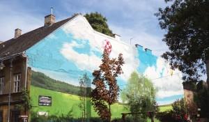 peinture originale mur de façade